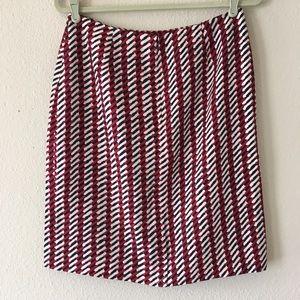 NWOT Ann Taylor Classic Color Print Skirt